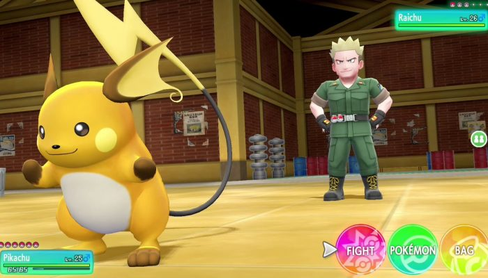 Check out Lieutenant Surge in the Pokémon Let's Go games