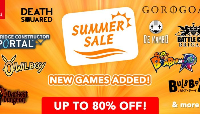 NoE: 'Nintendo eShop sale: Nintendo Switch Summer Sale (Part Two)'