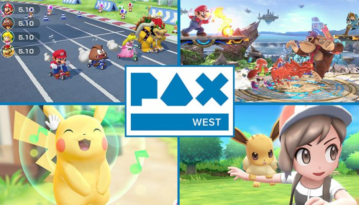 NoA: 'Nintendo brings Super Smash Bros., Pokémon, and Super Mario Party to PAX West'
