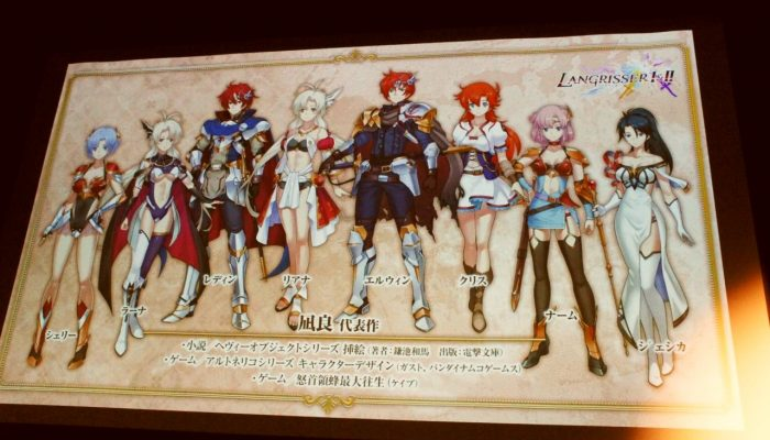 Langrisser I & II – Pictures of the Japanese Reveal Event