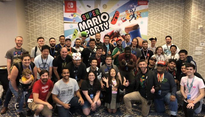Kit and Krysta from Nintendo Minute playing Super Mario Party with fans at PAX West 2018