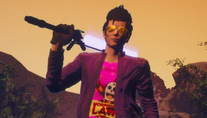 Travis rocks a Morphies Law T-shirt in Travis Strikes Again No More Heroes