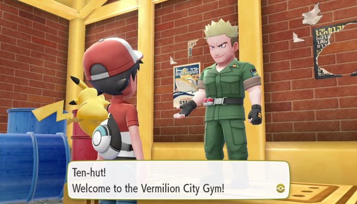 Gym Leader Lieutenant Surge in Pokémon Let's Go