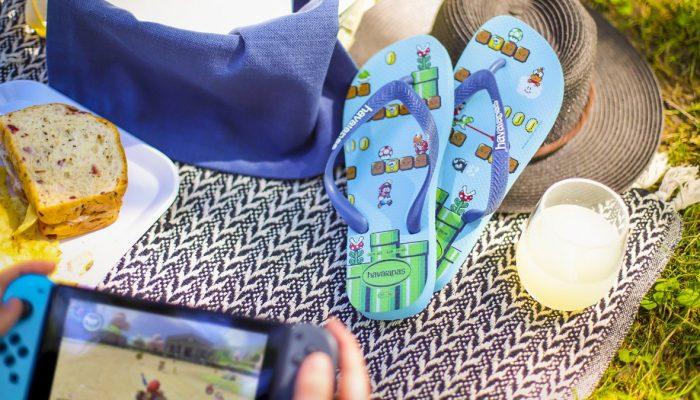 Flip flop brand Havaianas partners with Nintendo