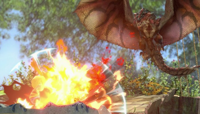 A look at Rathalos as an Assist Trophy in Super Smash Bros. Ultimate