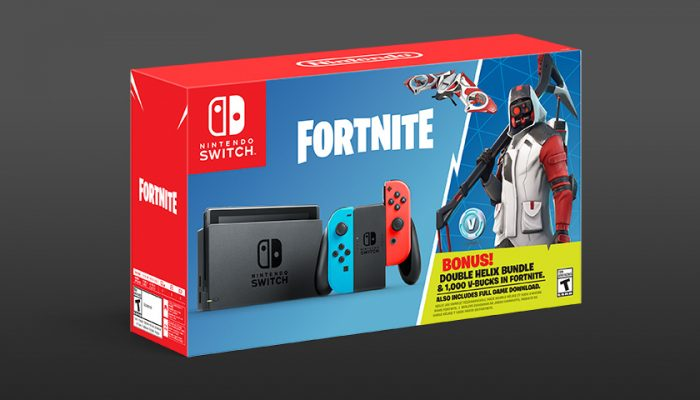 NoA: 'Nintendo Switch bundle with $45 worth of Fortnite bonuses is now available!'