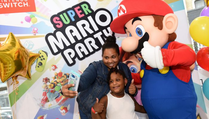 Photos of the Super Mario Party and Luigi's Mansion Launch Event at Nintendo NY Store