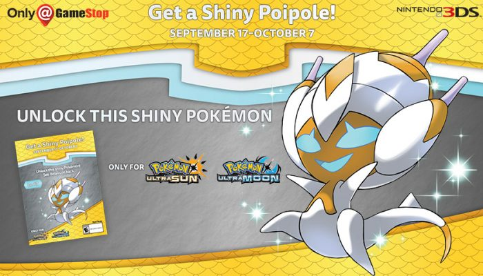 NoA: 'Unlock Shiny Poipole for your Pokémon Ultra Sun or Pokémon Ultra Moon game'