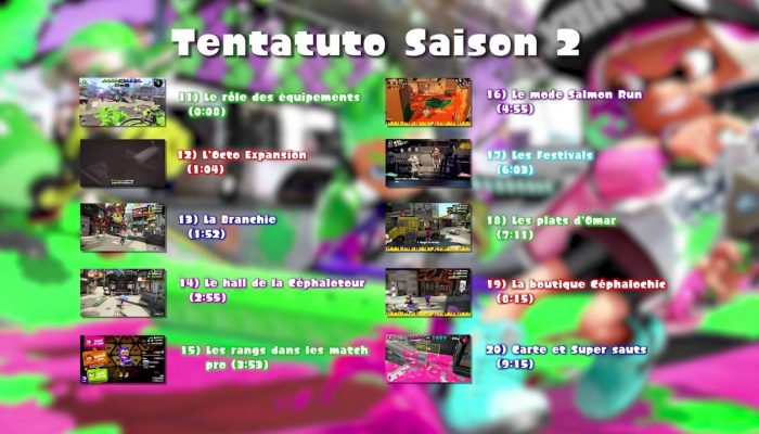 Splatoon 2 – Nos Tentatutos sont de retour !