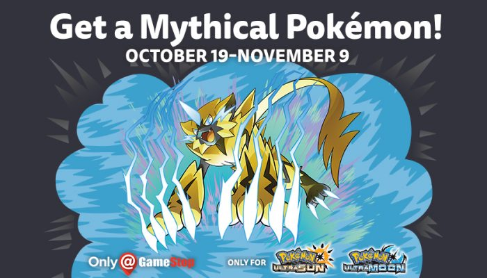 NoA: 'Unlock Zeraora for your Pokémon Ultra Sun or Pokémon Ultra Moon game'