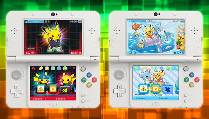 Pokémon: 'Pikachu Gets Playful in Two New Nintendo 3DS Themes'