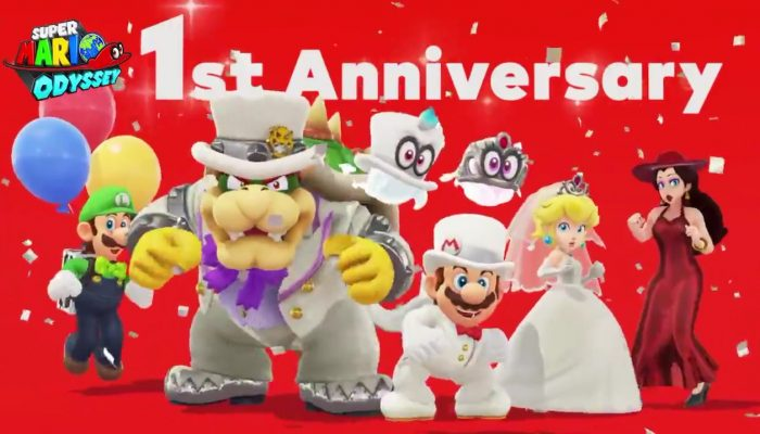 Mario, Cappy and friends dance for Super Mario Odyssey's first-year anniversary
