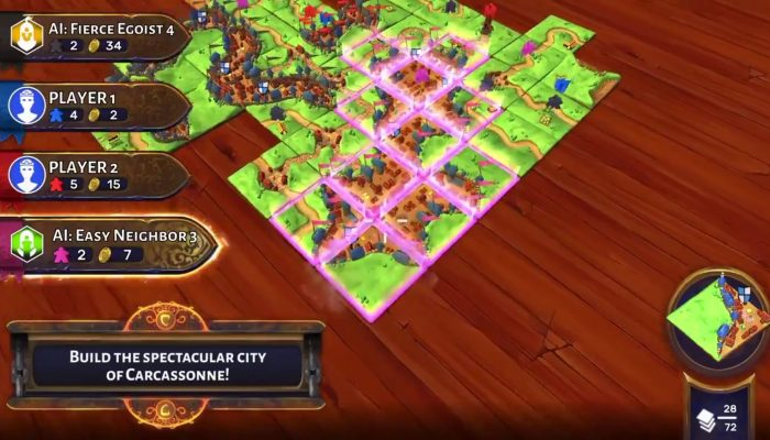 Carcassonne launching December 6 on Nintendo Switch