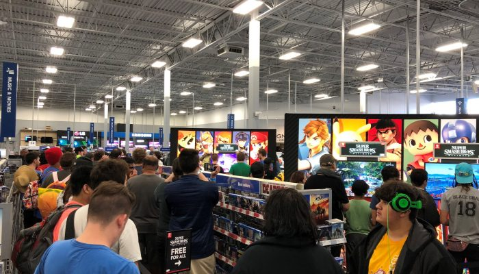 A quick look at how the Super Smash Bros. Ultimate Best Buy demo event went down