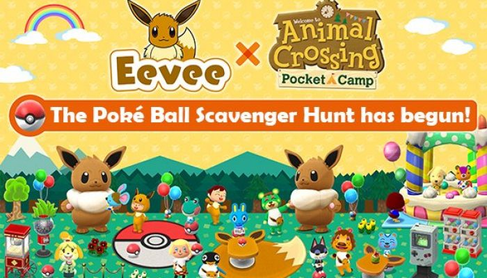 Poké Ball Scavenger Hunt in Animal Crossing Pocket Camp