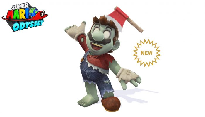 Zombie Headwear & Zombie Outfit added to Super Mario Odyssey