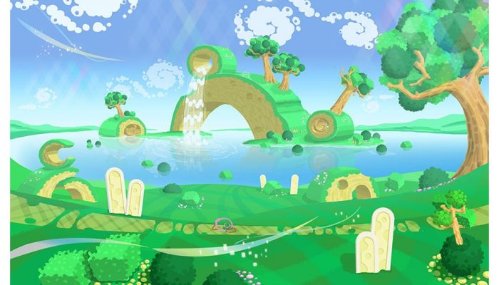 A peek at how Kirby Star Allies's grasslands stages were envisioned