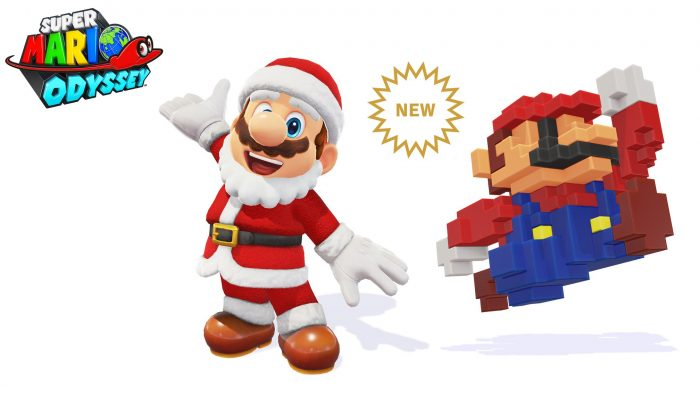 Santa Hat & Santa Outfit and 8-Bit Mario Cap added to Super Mario Odyssey