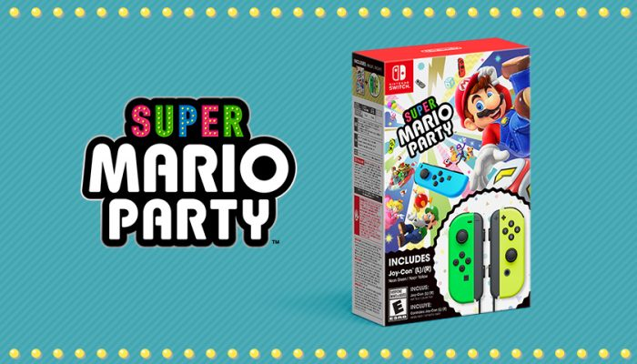 NoA: 'Make multiplayer parties even easier with a Super Mario Party bundle with included Joy-Con'