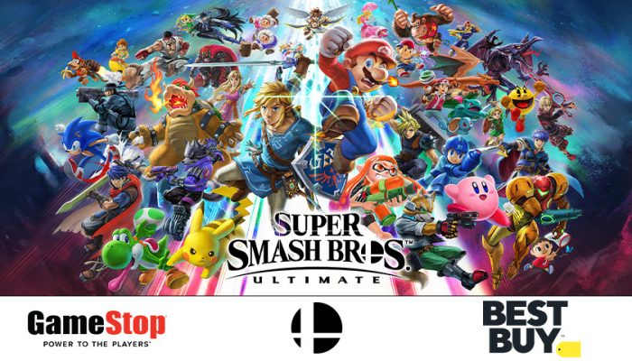 NoA: 'GameStop and Best Buy stores hosting late-night events for the launch of Super Smash Bros. Ultimate'