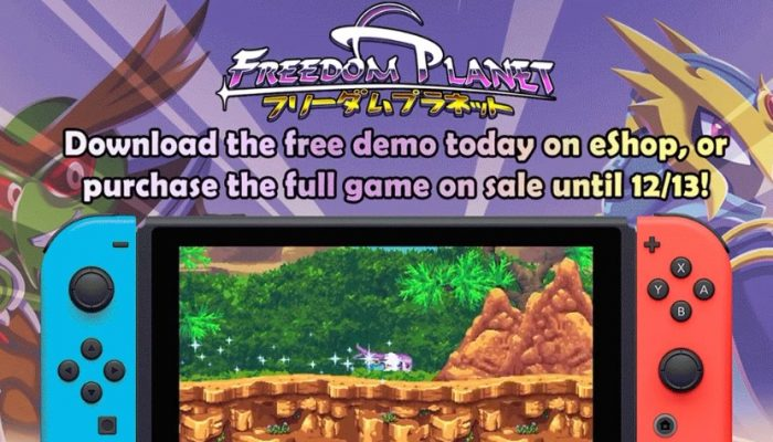 Freedom Planet gets a demo on the Nintendo Switch eShop