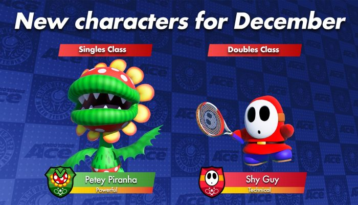 Mario Tennis Aces gets two new characters in December to celebrate the new doubles tournament