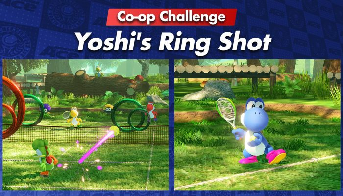 Yoshi's Ring Shot Co-op Challenge added in Mario Tennis Aces
