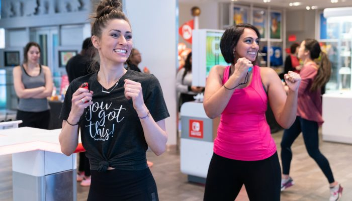 Photos of the Fitness Boxing Event at Nintendo NY Store