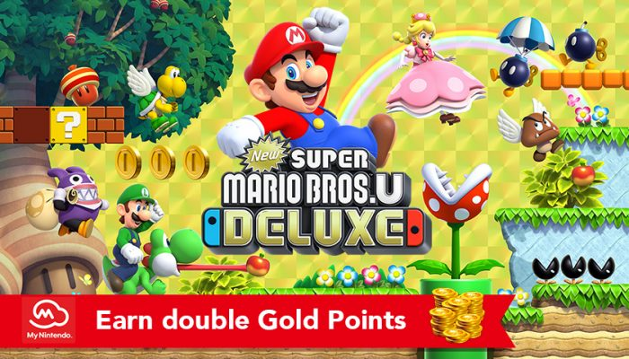 NoA: 'Pre-purchase digital version of New Super Mario Bros. U Deluxe, earn double Gold Points!'
