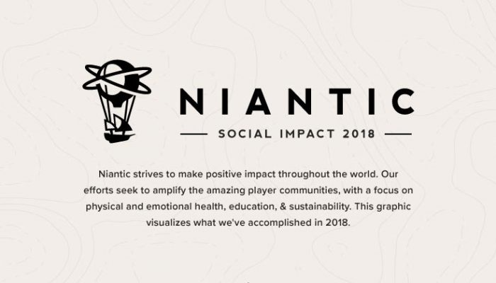Niantic Labs: 'Strengthening Our Communities: Niantic Social Impact Report 2018'
