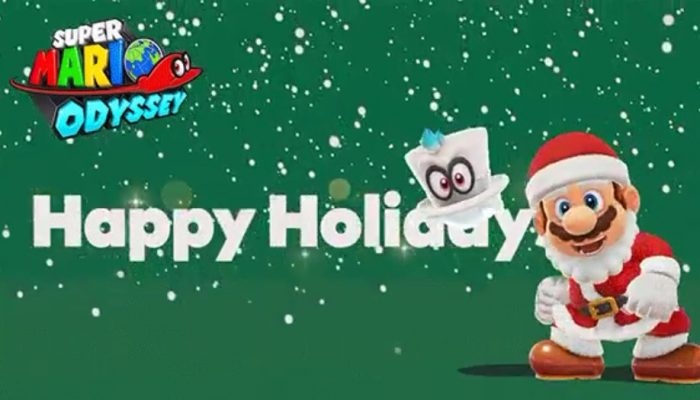And now Mario and Cappy wishing you happy holidays