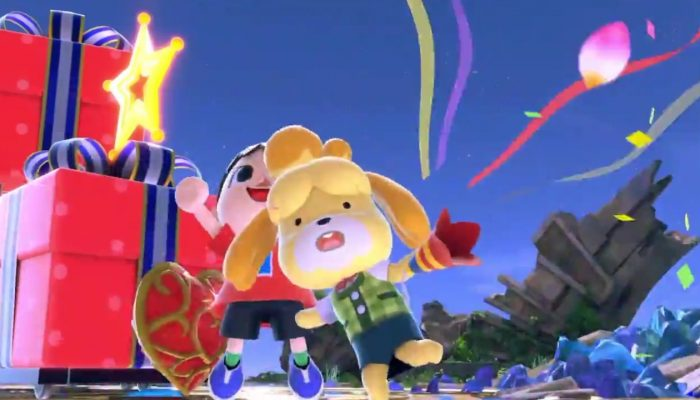 Villager and Marie wishing you a Smashing new year