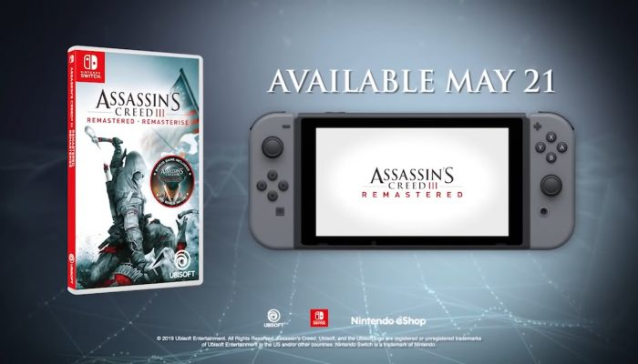 Ubisoft: 'Assassin's Creed III Remastered Coming to Nintendo Switch on May 21'
