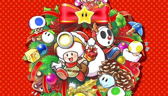 Captain Toad, Toadette and friends wishing you happy holidays