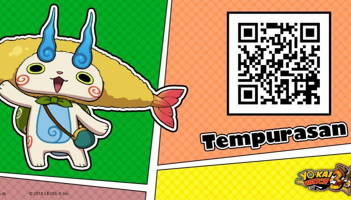 Here's a QR code for Tempurasan in Yo-kai Watch 3