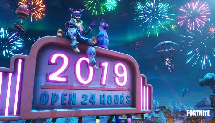 Happy new year from Fortnite