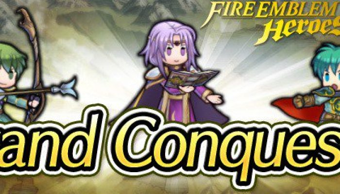 Lyon, Innes and Ephraim Grand Conquests in Fire Emblem Heroes