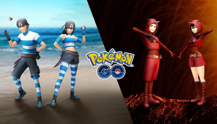 Dress like a Team Magma and Team Aqua member in Pokémon Go