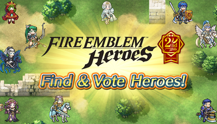 Find & Vote Heroes to celebrate Fire Emblem Heroes's second anniversary