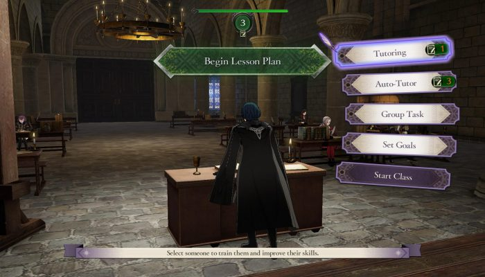 Prepare to take your role as a professor at the Officer's Academy in Fire Emblem Three Houses
