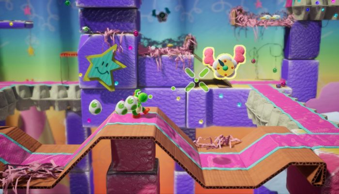 There's a demo for Yoshi's Crafted World on the Nintendo Switch eShop
