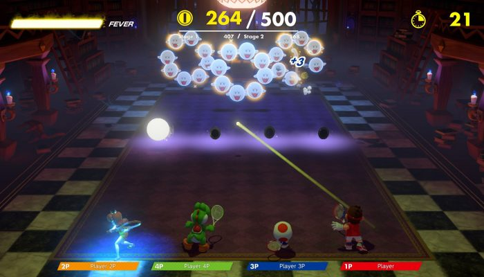 Boo Hunt Co-Op Challenge returning in Mario Tennis Aces