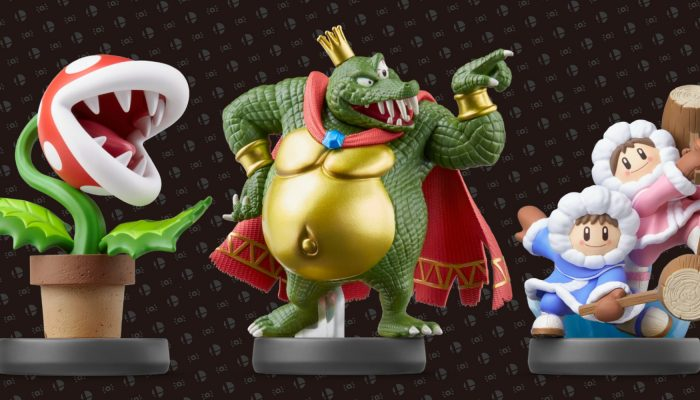 Piranha Plant, King K. Rool and Ice Climbers amiibo are now available