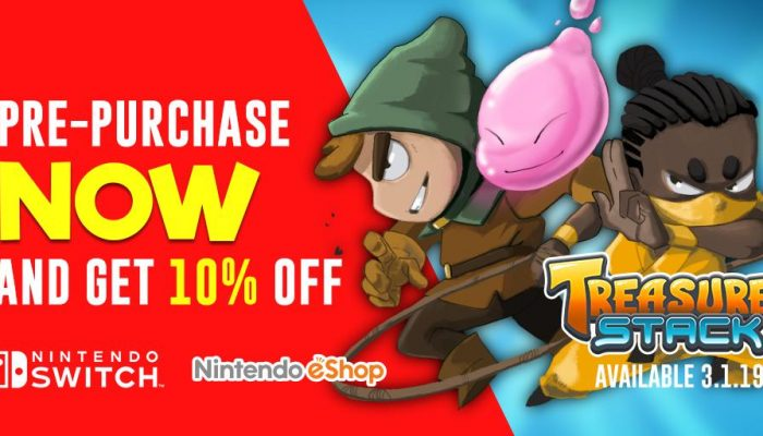 Treasure Stack available for pre-purchase on the Nintendo Switch eShop