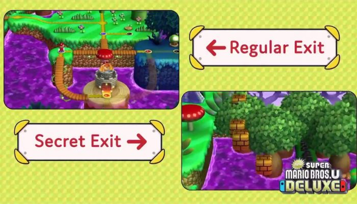 Check out secret exits in New Super Mario Bros. U Deluxe