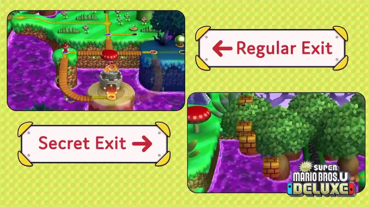 Check Out Secret Exits In New Super Mario Bros U Deluxe