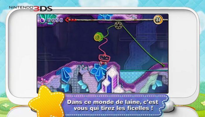 Kirby : Au fil de la grande aventure – Publicité Qui laine le suive !