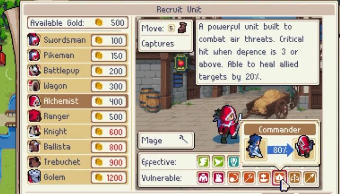 Wargroove now updated with community requested changes