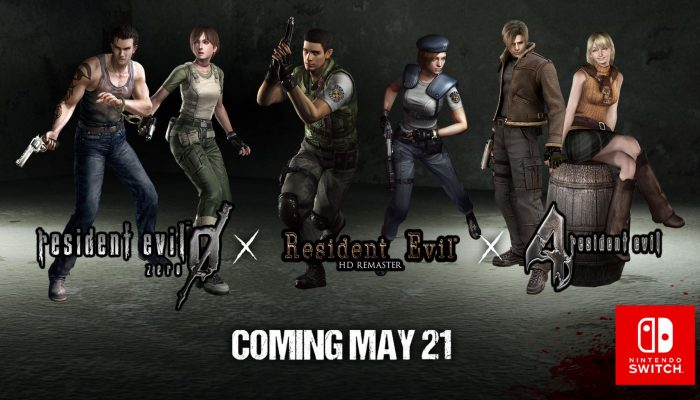 Resident Evil 0, 1 and 4 coming to Nintendo Switch on May 21