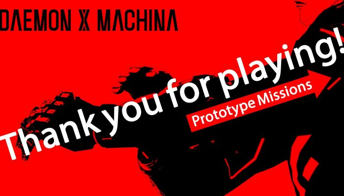 Kenichiro Tsukuda thanks you for playing the Daemon X Machina Prototype Missions demo